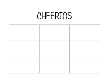 Sight Word Bingo (CHEERIOS)