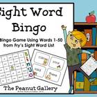 Sight Word Bingo (Fry's Sight Words 1-50)