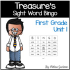 Sight Word Bingo Unit 1 Macmillan/McGraw-Hill Treasures Fi