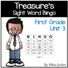 Sight Word Bingo Unit 3 Macmillan/McGraw-Hill Treasures Fi