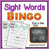 sight words bingo set one color