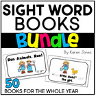 Sight Word Books {Mega Pack} --50 Printable books for the