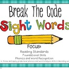 Sight Word Break The Code