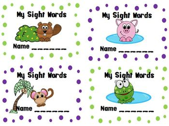 Sight Word Cards First Grade Treasures Series - Freebie