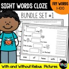 Sight Word Cloze Bundle: Fry Words 1-100