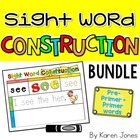 Sight Word Construction Mats {Dolch Pre-Primer + Primer Words}