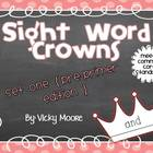 Sight Word Crowns BUNDLE { pre - primer and primer in one } CCSS