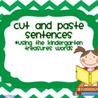 Sight Word Cut Ups (with Kindergarten Treasure Words)