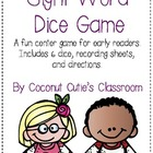 Sight Word Dice Game FUN!