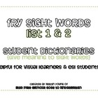 Sight Word Dictionaries {Fry Lists 1 & 2}