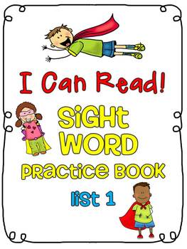 Sight Word (Dolch) Practice Book List 1