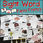 Sight Word Farm Frenzy! - 100 High Frequency Word Reading Game