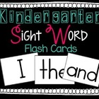 Sight Word Flash Cards FREEBIE