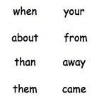 Sight Word Flash Cards Word Study Lists B-H