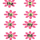 Sight Word Flash Cards for Word Study Lists A-H - Flower Theme