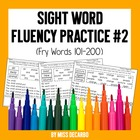 Sight Word Fluency Pack #2: Fry Words 101-200