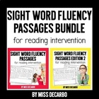 Sight Word Fluency Passages BUNDLE PACK!