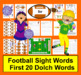 Sight Word Football Literacy Center