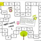 Sight Word Game Boards (Owl Theme)