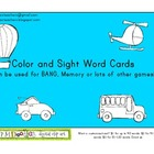 Sight Word Game Cards