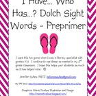 Sight Word Game - Dolch preprimer list