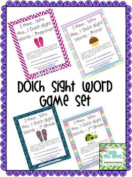 Sight Word Games Mega Bundle - Dolch Words I Have, Who Has?