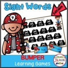 """Pirates """"Bump""""er Sight Word Games {Common Core Connections}"""
