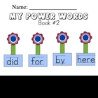 Sight Word Handwriting Workbook Book 2