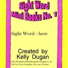 Sight Word Mini Book - Here