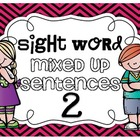Sight Word Mixed Up Sentences 2 {20 words}