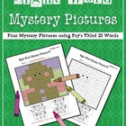 Sight Word Mystery Pictures- December Set 3