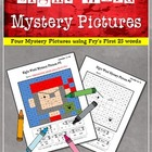 Sight Word Mystery Pictures- September Set 1