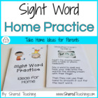 Sight Word Parent Book