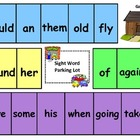 Sight Word Parking Lot (Dolch List, First Grade, Game B)