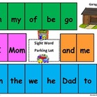Sight Word Parking Lot Game (Board #2 Kindergarten/First)