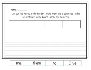 Sight Word Phrases for Fluency and Sight word Recognition