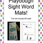 Sight Word Playdough Mats. Make Learning Fun!