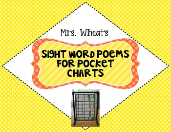 Sight Word Poetry for Pocket Charts