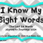 Sight Word Slide Show  Aligned to the Journeys 2014--Last