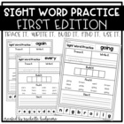 Sight Word Practice FIRST EDITION {trace it.write it.find