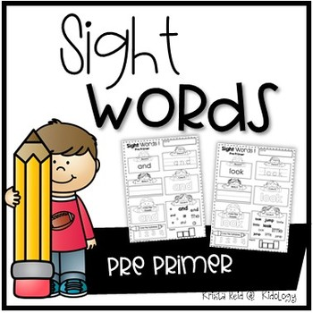 Sight Word Practice Pages - Pre Primer