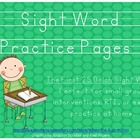 Sight Word Practice Pages {The First 25 Dolch Words)