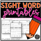 Sight Word Practice for Kindergarten Packet 2
