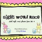 Sight Word Race {Dolch Sight Word Phrases from List 4}