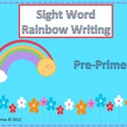 Sight Word Rainbow Writing Pre-Primer