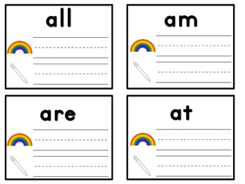 Sight Word Rainbow Writing-Primer
