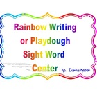 Sight Word Rainbow Writing or Play-dough Mats