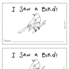 Sight Word Reader-saw, put, out- I Saw A Bird!