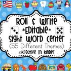 Sight Word Roll &amp; Write *Editable* Center for All Year!