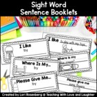 Sight Word Sentence Booklets